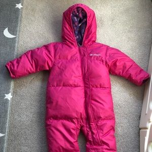Columbia Baby Snowsuit with cover hands and feet